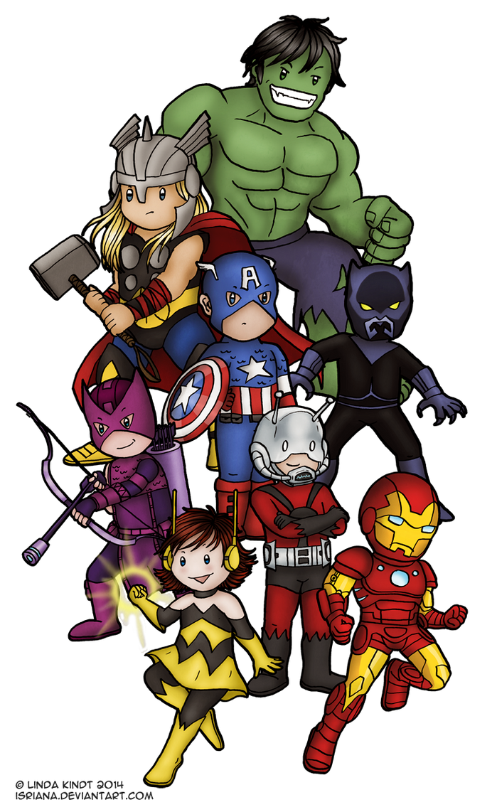 Earth's Mightiest Heroes by Isriana