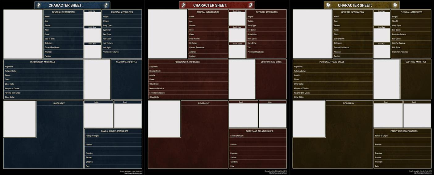 TESO Character Sheets by Isriana