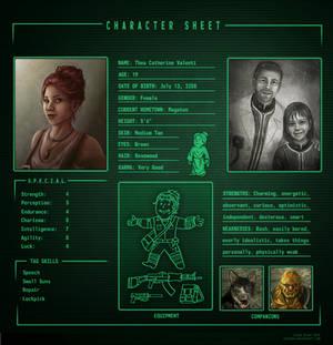 Fallout 3 Character Sheet: Thea