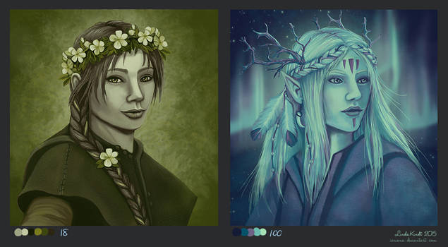 Druid in Green, Druid in Blue