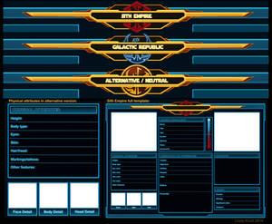SWTOR Character Sheet Templates