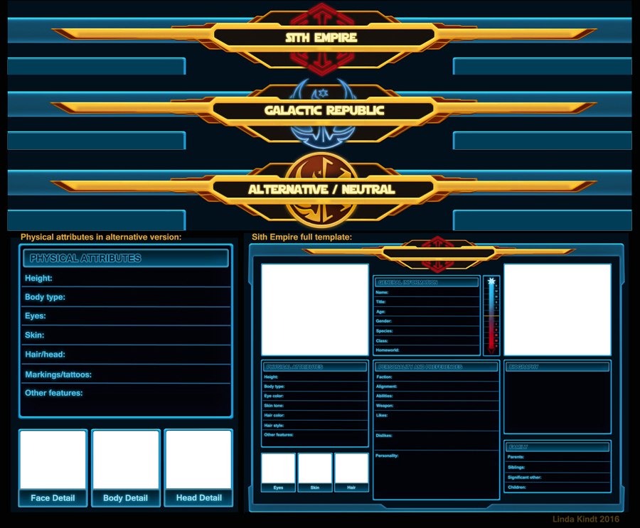 SWTOR Character Sheet Templates by Isriana on DeviantArt