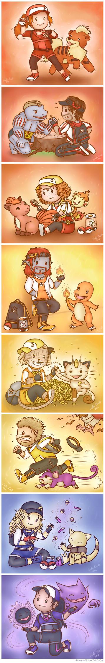 TES meets Pokemon GO by Isriana