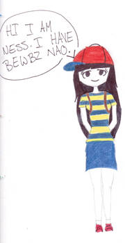 ness as a girl