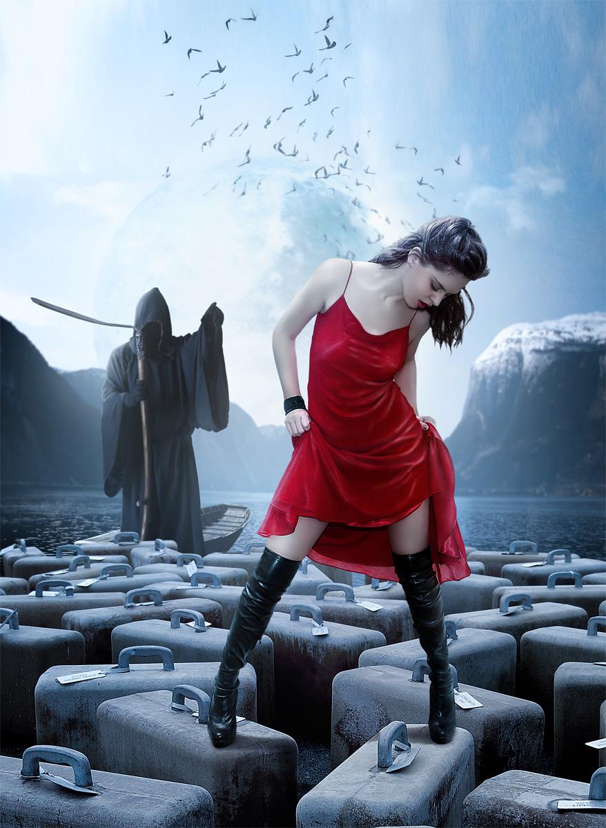Girl and Death by sasha-fantom