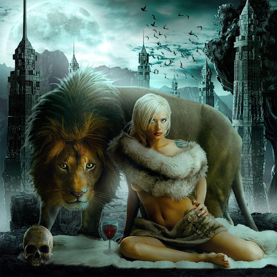 The girl and the Beast by sasha-fantom