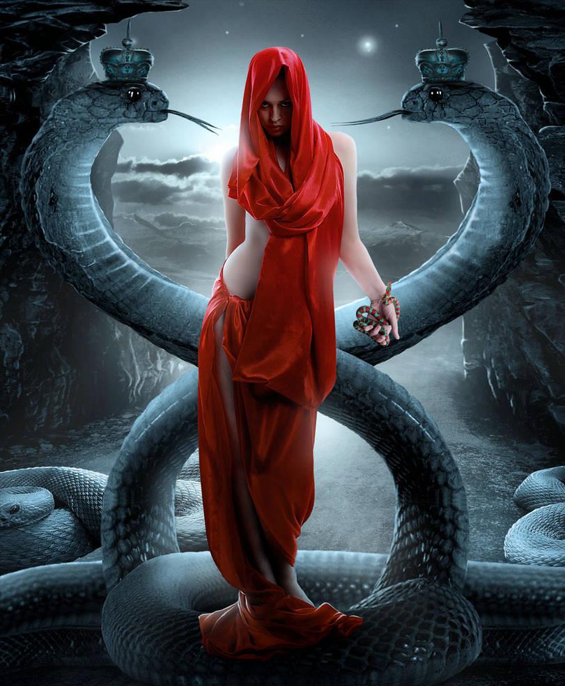 Girl with a snake by sasha-fantom