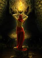 Agni the sacrificial fire by sasha-fantom
