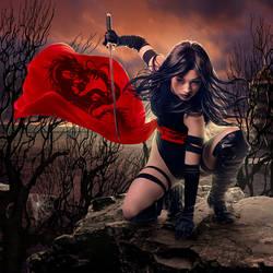 Red dragon by sasha-fantom