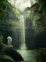 Moon waterfall by sasha-fantom