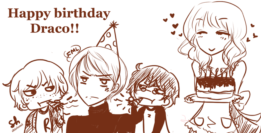 HP: Happy Birthday Draco! 2012 by shiriomi