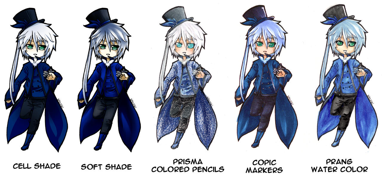 5 Coloring Styles by naomai on DeviantArt