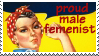 Male Femenist Stamp by maggot216