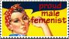 Male Femenist Stamp by maggot216