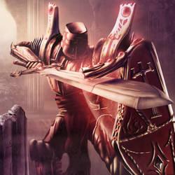 Crimson Crusader by McJohnArt