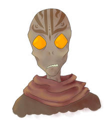 ugly alien man from a weird west buddy comedy