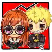 Futaba And Ryuji by ReithMegurine
