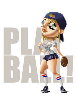Baseball pinup shortstop