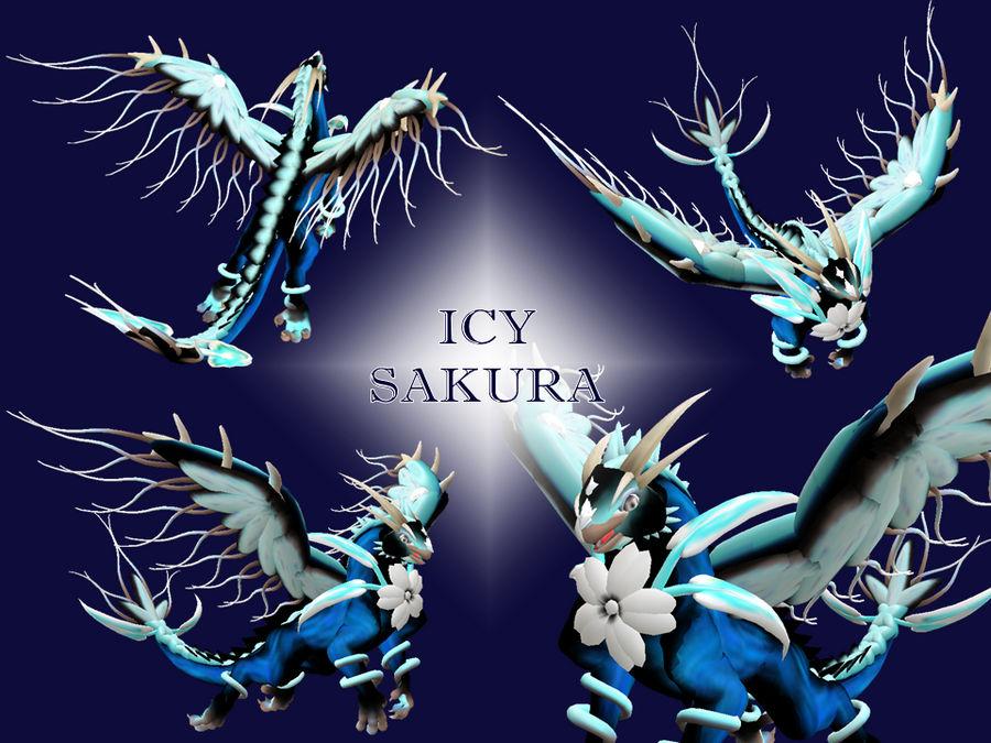 SPORE Dragon - Icy Sakura
