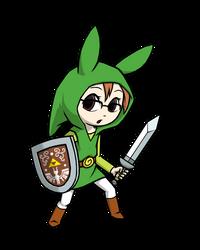 Commission - Mari cosplays Toon Link