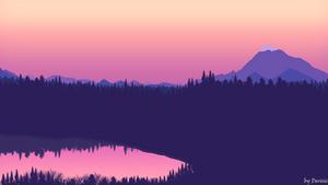 Purple sunset by Derisis