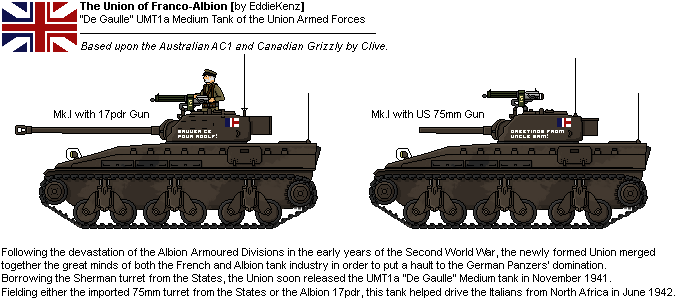 [JG] `De Gaulle` UMT1a Union Medium Tank Mk.I by EddieKenz