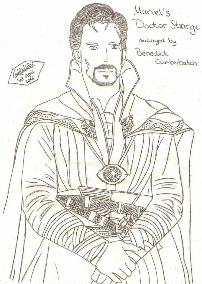 Doctor Strange Coloring Picture 1 By MelanieSpyCar