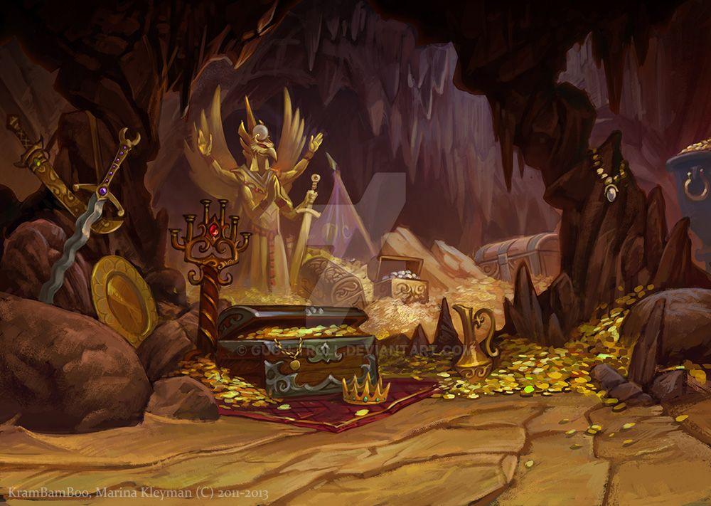 Legend Background Caves Treasure by gugu-troll on DeviantArt