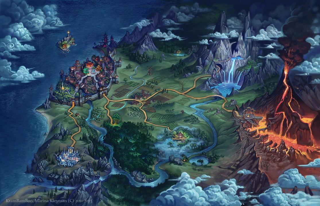 World map by gugu-troll
