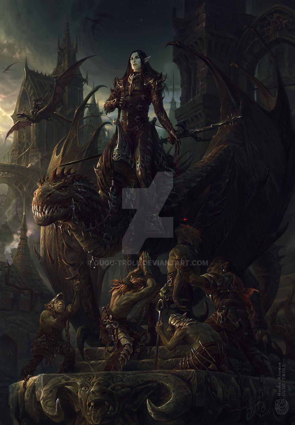 Dark elf warrior by gugu-troll