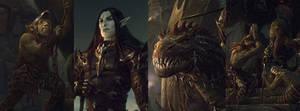 Details of Dark elf knight