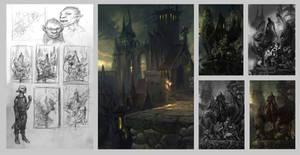 Sketches for Dark Elf