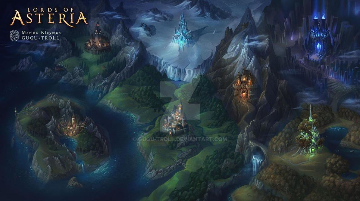 Map of Asteria - night by gugu-troll