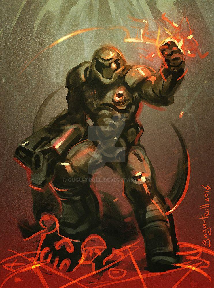 Doom fanart - quick sketch by gugu-troll