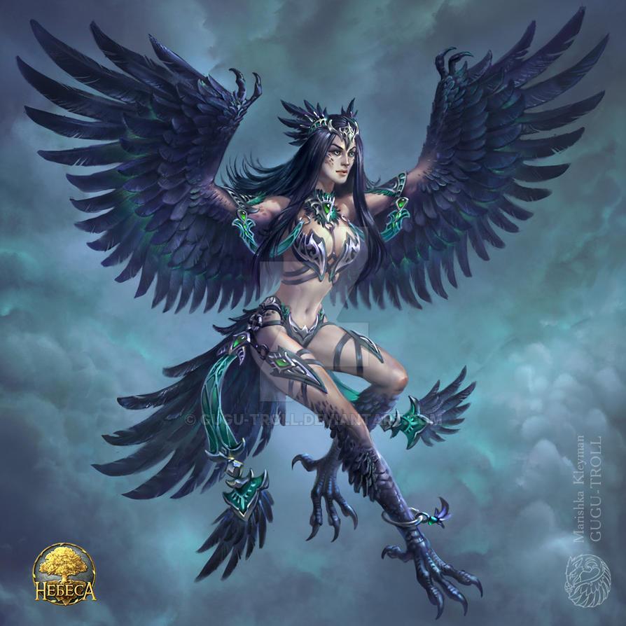Crow girl by gugu-troll