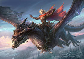 Throne Of Glass - Flight of Manon and Abraxos