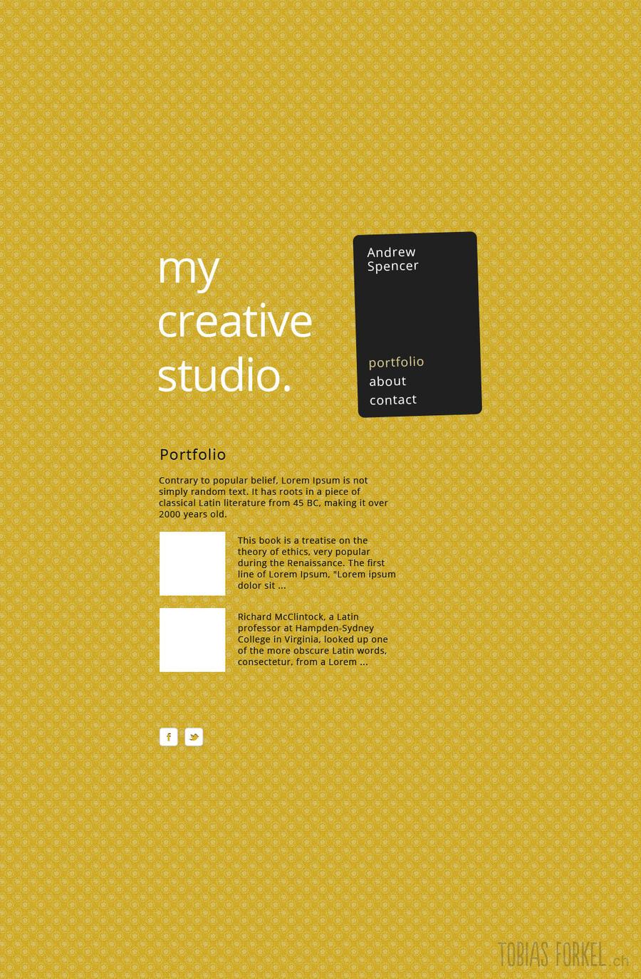 A simple online portfolio with retro background by tobiasforkel on ...