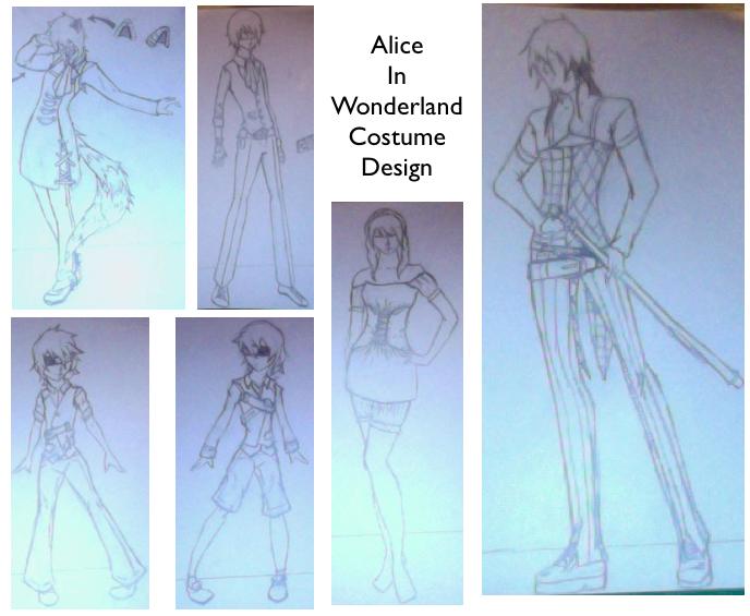 Alice in Wonderland Costume Design by Kenren1st