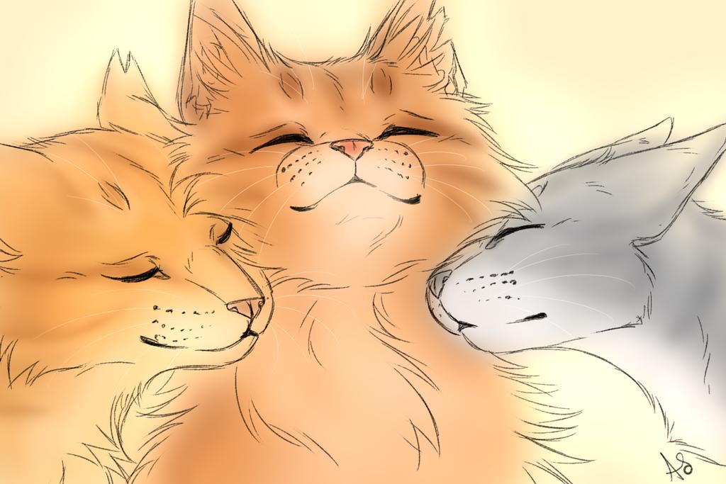 Sketch -momma cuddle- by AnnMY