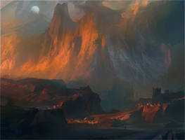 Mountainscape by NathanFowkesArt