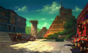 The Road to El Dorado Templescape