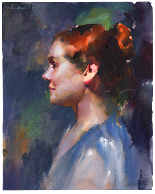 Watercolor Portrait#2! by NathanFowkesArt
