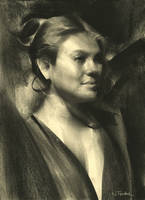 Charcoal Portrait by NathanFowkesArt