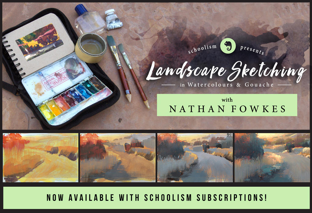 Landscapesketching-subscription Web by NathanFowkesArt