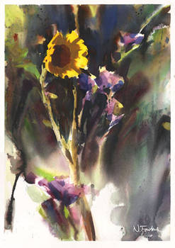 Sunflower in Watercolor