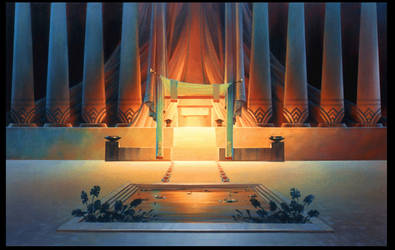 The Prince of Egypt Temple Interior by NathanFowkesArt