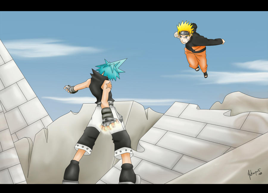 Naruto Vs Black Star by nelsonaof