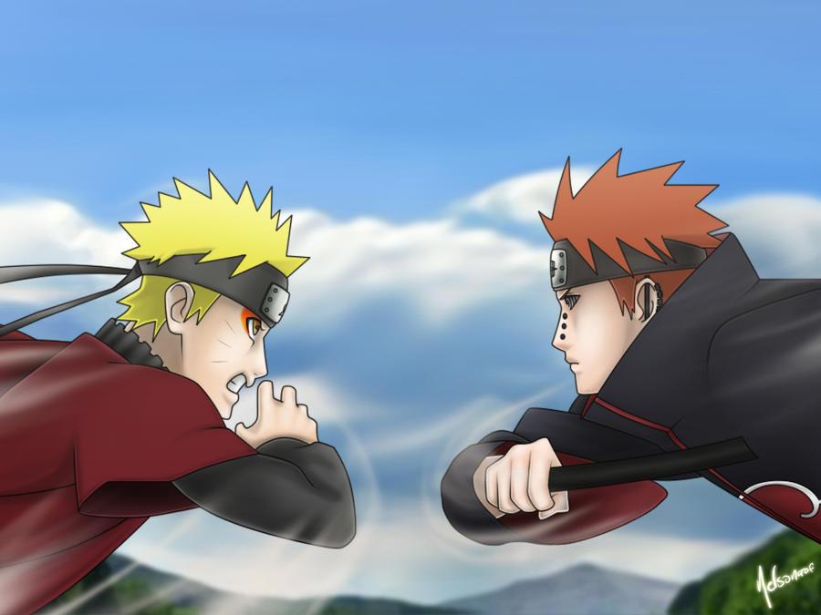 Naruto vs Pain (Imagenes)