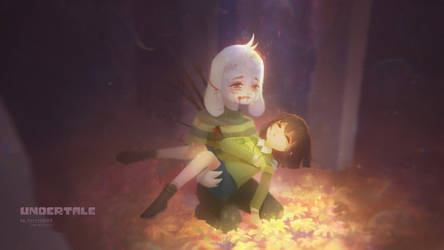 My Best Friend(Asriel *Chara) by Parion-Pi