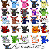 Pikachu Adoptables by shadowkitsunekirby